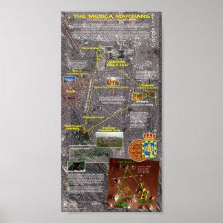 Mexico City Masonic Ley Lines Poster
