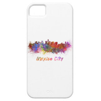 Mexico City skyline in watercolor iPhone 5 Cover