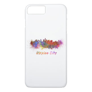 Mexico City skyline in watercolor iPhone 8 Plus/7 Plus Case