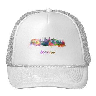 Mexico City V2 skyline in watercolor Cap