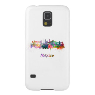 Mexico City V2 skyline in watercolor Cases For Galaxy S5