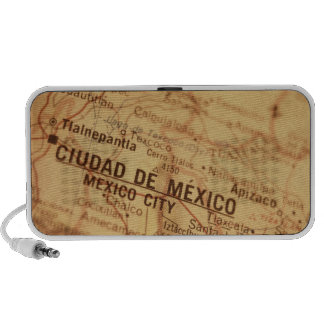 MEXICO CITY Vintage Map Doodle Notebook Speaker