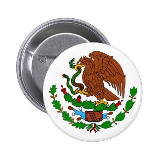 Mexico Coat arms 6 Cm Round Badge