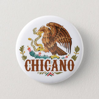 Mexico Coat of Arms Chicano 6 Cm Round Badge
