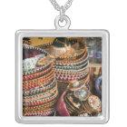 Mexico, Cozumel. Souvenirs in Isla de Cozumel Silver Plated Necklace