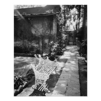 MEXICO, D.F., Mexico City, COYOACAN: Bench at Poster