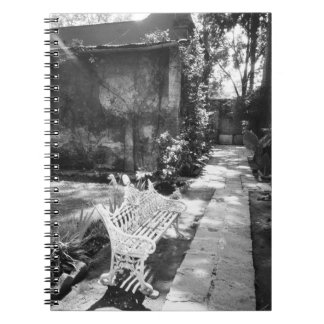 MEXICO, D.F., Mexico City, COYOACAN: Bench at Spiral Notebooks