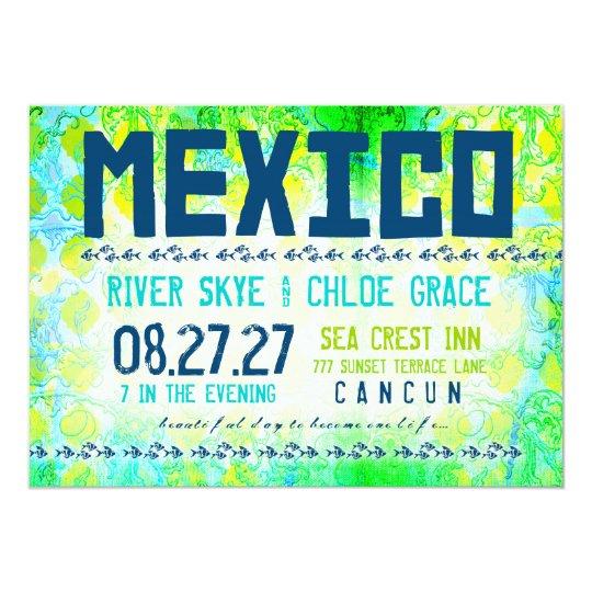 MEXICO Destination Invite Basic Paper