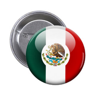 Mexico Flag 2.0 Pinback Buttons