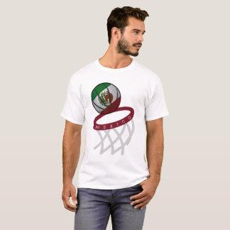 Mexico Flag Basketball Hoop T-Shirt