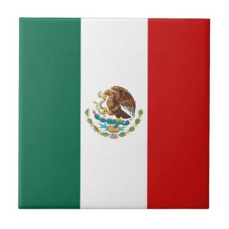 Mexico Flag Ceramic Tile