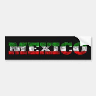 Mexico Flag Color Bumper Sticker