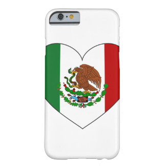 Mexico Flag Heart Barely There iPhone 6 Case