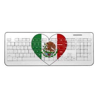 Mexico Flag Heart Wireless Keyboard