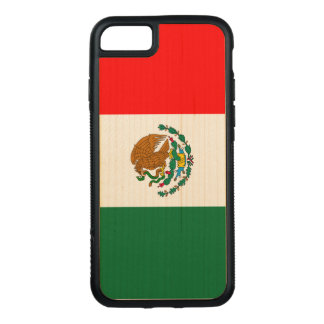 Mexico Flag iPhone 7 Maple Wood Bumper Case