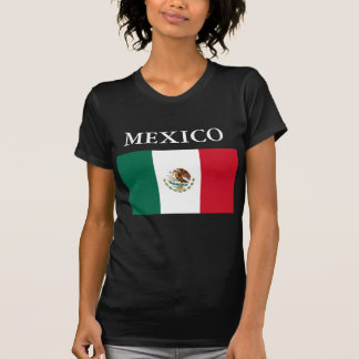 Mexico Flag Ladies Petite T-shirt Black