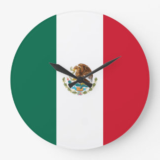 Mexico Flag Large Clock