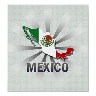 Mexico Flag Map 2 0 Posters