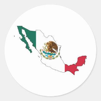 mexico flag map. la Bandera Nacional Classic Round Sticker