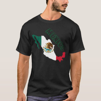 mexico flag map T-Shirt