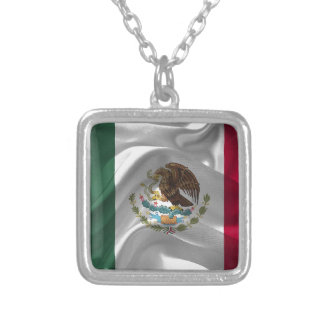 Mexico Flag Mexican Flag Flag Of Mexico Silver Plated Necklace