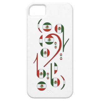 Mexico Flag Music Notes iPhone 5 Cases