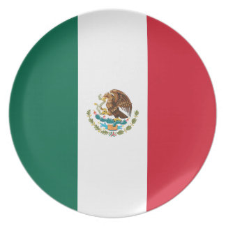 Mexico Flag Plate