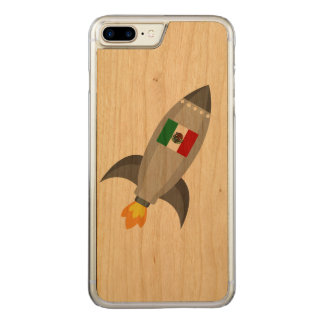 Mexico Flag Rocket Carved iPhone 7 Plus Case