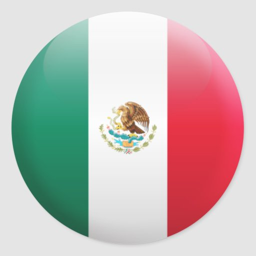 Mexico Flag Round Sticker | Zazzle