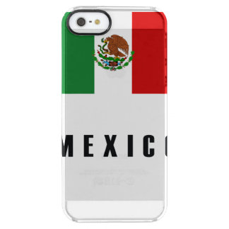 Mexico Flag Simple Dark Clear iPhone SE/5/5s Case