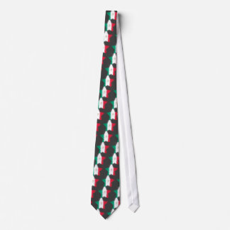 Mexico Flag Star Shining Tie