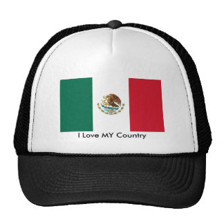 Mexico Flag The MUSEUM Zazzle I Love MY Country Hats