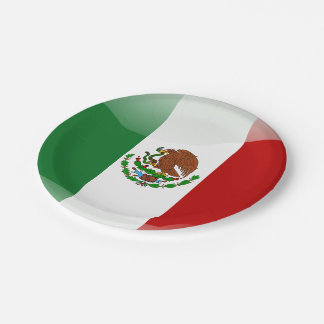 Mexico glossy flag paper plate