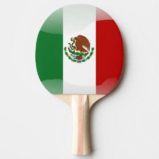 Mexico glossy flag ping pong paddle