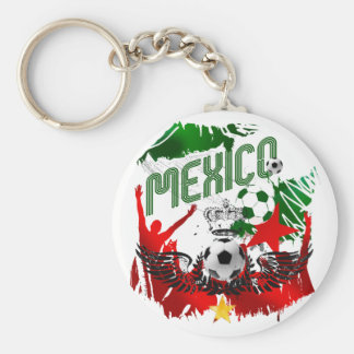 Mexico Grunge Stunning artwork gifts for fans Basic Round Button Key Ring