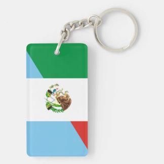 mexico guatemala half flag country symbol key ring