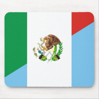 mexico guatemala half flag country symbol mouse pad