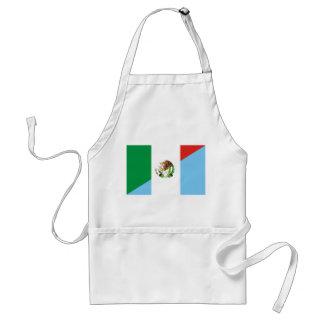 mexico guatemala half flag country symbol standard apron