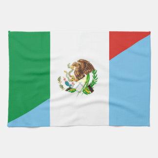 mexico guatemala half flag country symbol tea towel