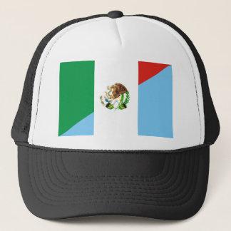 mexico guatemala half flag country symbol trucker hat