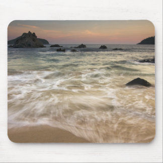 Mexico, Guerrero, Zihuatanejo.  Surf along a Mouse Pad