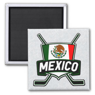 Mexico Ice Hockey Flag Magnet