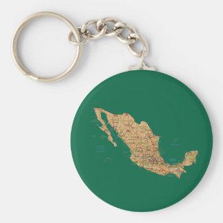 Mexico Map Keychain