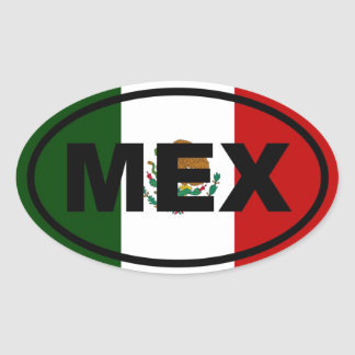 Mexico MEX Oval Sticker