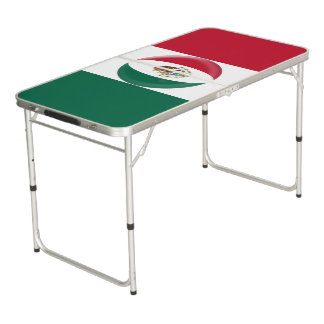 Mexico Mexican Flag Beer Pong Table