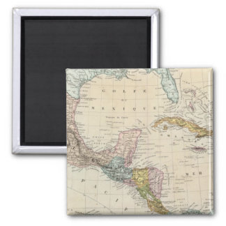 Mexico, Panama, Central America Square Magnet