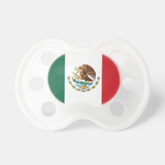 Mexico Plain Flag Baby Pacifiers