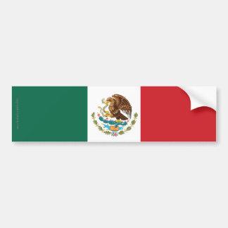 Mexico Plain Flag Bumper Sticker