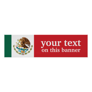 Mexico Plain Flag Poster