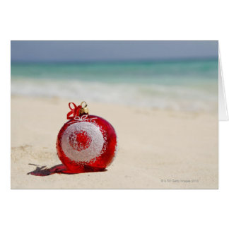 Mexico, Playa Del Carmen, christmas decoration Greeting Card